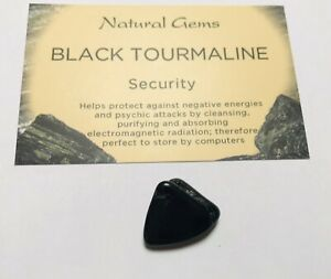 1 Small Black Tourmaline Schorl with  free organza bag And Crystal Card