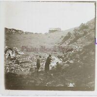 Francia A Identificare Agosto 1924 Foto Placca Da Lente Stereo Vintage