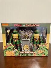 NECA TMNT Teenage Mutant Ninja Turtles Raphael & Michelangelo 2 Pack Sealed