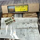 """Vintage Sig Piper Cub J3 Airplane R/C Kit Wood 71 in Wingspan 2""""  Scale Open Box"""