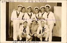 1940 Italian RN Asmara Ship Ship Crew US Army GI Navy Sailor Real Photo Postcard