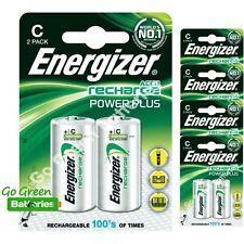 10 x Energizer C 2500 mAh Rechargeable Batteries LR14