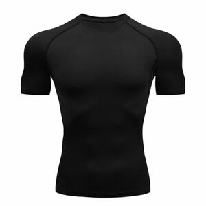 Men Running Compression Tshirts Quick Dry Soccer Jersey Fitness Tight Sportswear