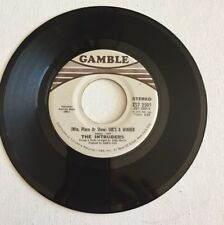 THE INTRUDERS, (Win, Place or Show) She's a Winner, GAMBLE#2501, 45 RECORD, 1972