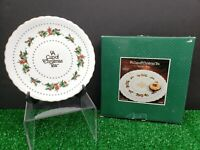 """1998 Waldman House """"A Cup Of Christmas Tea"""" Cookie Plate Tom Hegg CT-140 In Box"""