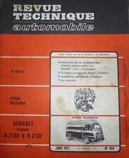 Revue technique RENAULT ESTAFETTE R 2132 à R 2137 N°302 1971