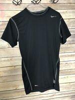 Nike Pro Dri-Fit Fitted Compression T-Shirt Mens Medium Black Athletic Run