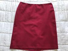 Falda Para Mujer Anne Klein Rojo Oscuro Talla 10