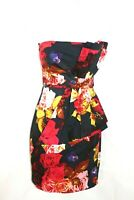TED BAKER Multicolored Floral Special Occasion Cocktail Dress Size 1 Uk 8
