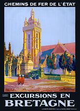 Affiche chemin de fer Etat - Bretagne Saint-Thégonnec