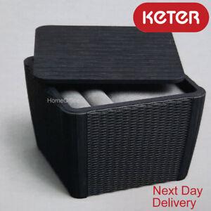 Keter Outdoor Storage Table 92L Garden Patio Rattan New