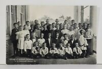 Quincy Pa Group of Orphan Children U.B. Orphanage c1907 Pennsylvania Postcard N3