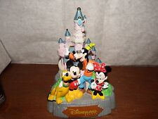 RARE Disneyland Paris Mickey mouse castle money box coin bank figure ornament