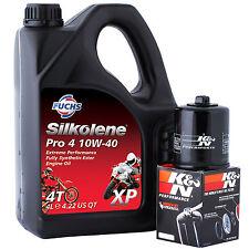 SV 650 S-K4 Half Faired No ABS 2004 K&N Filter and Silkolene Pro 4 XP Oil Kit