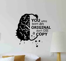 Brain Quote Wall Decal Science School Motivation Decor Vinyl Sticker Poster 707