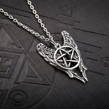 Supernatural Necklace Pentagram Angel Winchester Amulet Jewellery Chain