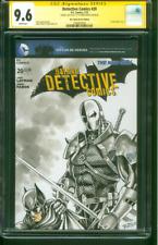 Batman Detective Comics 20 CGC SS 9.6 vs Deathstroke Original art sketch 7/13