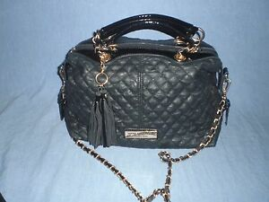 Andrew Marc New York  Quilted  satchel /crossbody bag with heavy  chain strap