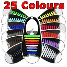 Easy Lazy No Tie Elastic Silicone Shoe Laces Triathlon Shoelaces Adult Unisex