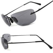 Designer Sporty Cool Mens Womens Hot Stylish Rimless Wrap Rectangular Sunglasses