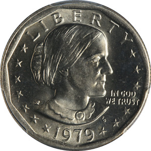 1979-P Susan B. Anthony Dollar PCGS MS66 Wide Rim Near Date - Stock Item