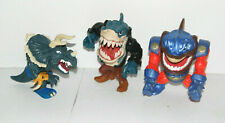 Lot of 3 MATTEL 1995-96 Street Sharks - Super Slammu, Ripster, Spike FREE SHIP