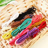 3x Flat Real Suede Leather Cord Lace Thong Jewellery Making String Craft 1M SD