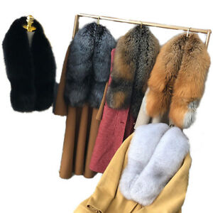 Women Fur Scarf Collar Real Whole Fox Fur Neckerchief Fluffy Bride Wedding Party