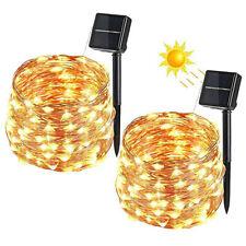 Solar Light Chain 2 Pcs 100 LED String Solar Light Waterproof Indoor Outdoor