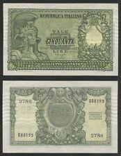 "REPUBBLICA ITALIANA - 50 Lire ""Italia Elmata"" 31.12.1951  qFDS/FDS"