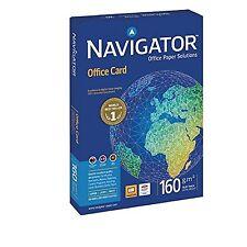 Tarjeta De Oficina Navigator de alta calidad Premium 160gsm A4 blanco brillante-ref PCO16...