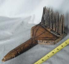 Antique Folk art Native American rake hand forged iron Pacific Coast 18th c horn