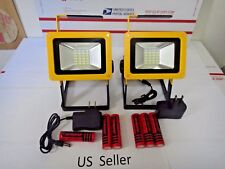 2X-Rechargeable wireless outdoor 30W 24 LED Flood work light Camping Lamp USA