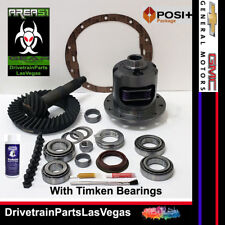 GM Chevy Posi Limited Slip 8.6 10 Bolt 3.73 Gears TImken Install Kit 2000 2008