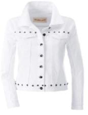 Damen Jeans Jacke Collection L bei Witt Weiden Größe 50 NEU weiß