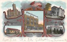 Sacramento, CA Breuner's Store, Capitol, Sutter's Fort 1905 Vintage Postcard