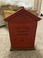 Antique Gamewell Cast Iron Fire Telegraph Station Firefighter Alarm Pull Box