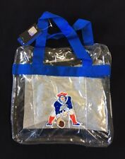 New England Patriot Retro Throwback CLEAR Messenger Tote Bag Purse Game Security