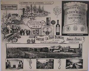 1908 CHATEAU LA TOUR BLANCHE SAUTERNES HENRY GUILLIER FRENCH PHOTOGRAPHIC VIEWS