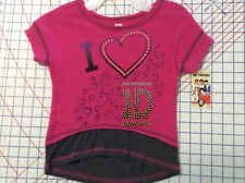 Girl  L(10-12) One Direction  I ❤️ 1D   Pink Jazz  Pullover Top NEW