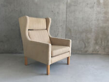 1960/70's Danish mid century wing backed armchair in the style of Borge Mogensen