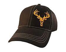 RackHound Men's Deer Head Stretch-Fit Cap One Size Black