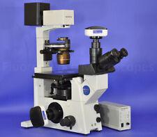 Olympus Ix71 Inverted Hoffman Modulation Contrast Hmc Microscope