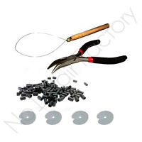 100pc Black Copper Micro Rings 3.5mm Loop Kit Pliers for hair extension