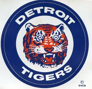 VINTAGE DETROIT TIGERS STICKER VINTAGE  1971 MEYERCORD MFG. CO. MINT TOP QUALITY
