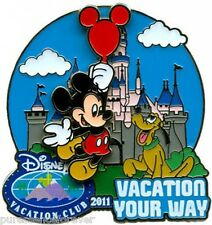 WDW/DLR Disney Vacation Club (DVC): Vacation Your Way 2011 Mickey & Pluto LE Pin