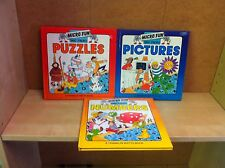 Collection of Micro Fun - BBC Micro Series - Numbers, Puzzles & Pictures Books