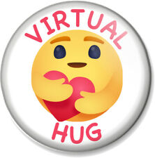 Virtual Hug Pin Button Badge various sizes Send a hug Social Distancing Distance