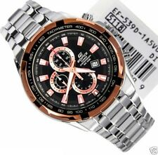 IMPORTED CASIO EDIFICE CHRONOGRAPH EF-539D-1A5V TWO TONE STEEL CASE DATE DISPLAY