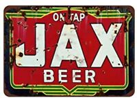 JAX BEER TIN SIGN JACKSONVILLE BREWERY BOTTLE CAP SAN ANTONIO PUB BAR GRILL CAVE